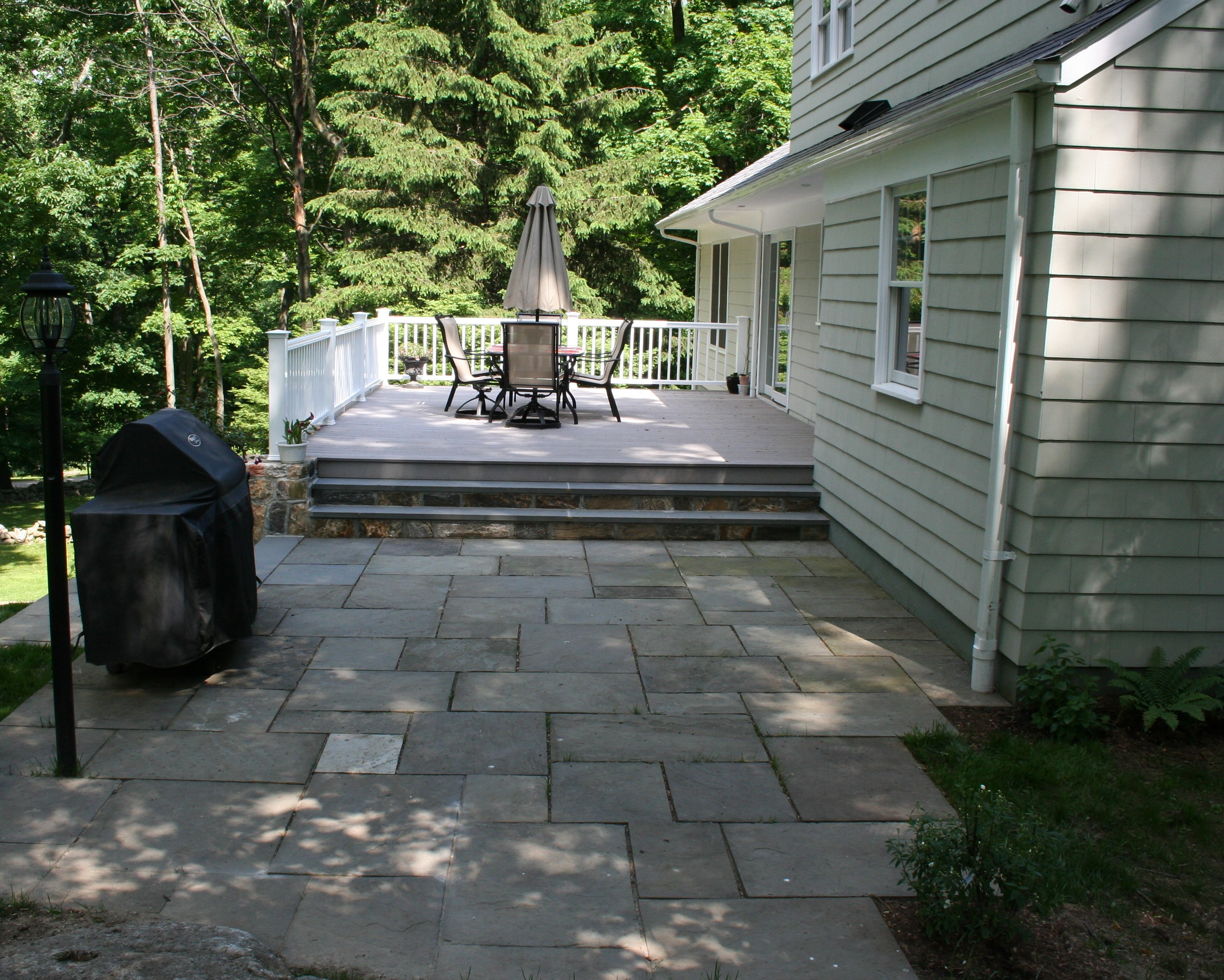 Deck To Patio BBQ Transition
